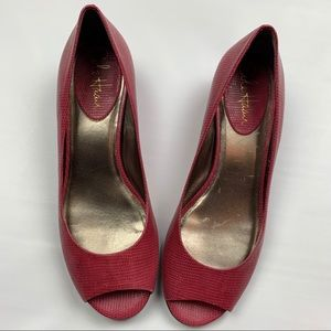 Cole Haan Leather Peep Toe Flats Women's Shoes